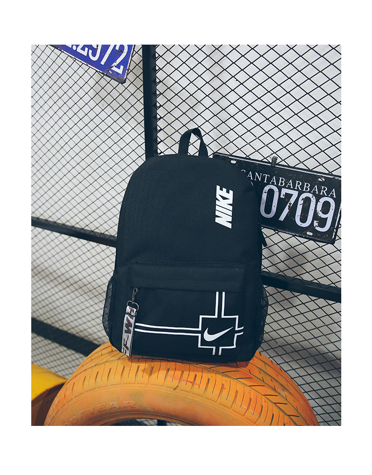 Deep Blue Nike Zipper Backpack