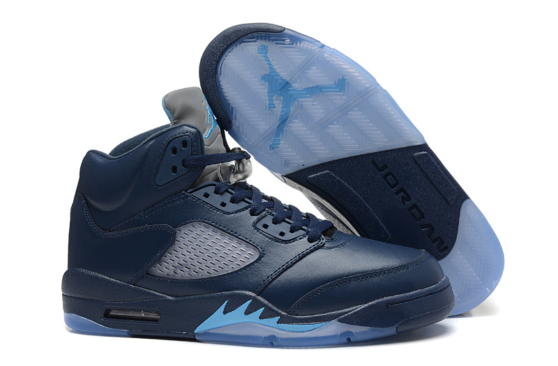 Durable Air Jordan 5 Deep Blue Retro Shoes