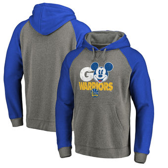 Golden State Warriors Fanatics Branded Disney Rally Cry Tri-Blend Raglan Pullover Hoodie - Ash