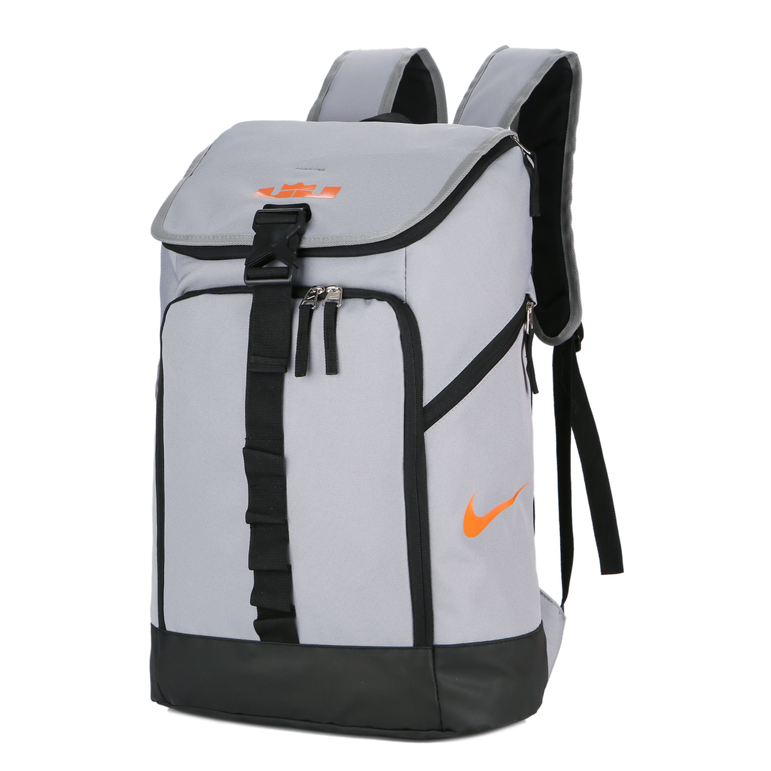 Grey Black Orange Nike LeBron Backpack