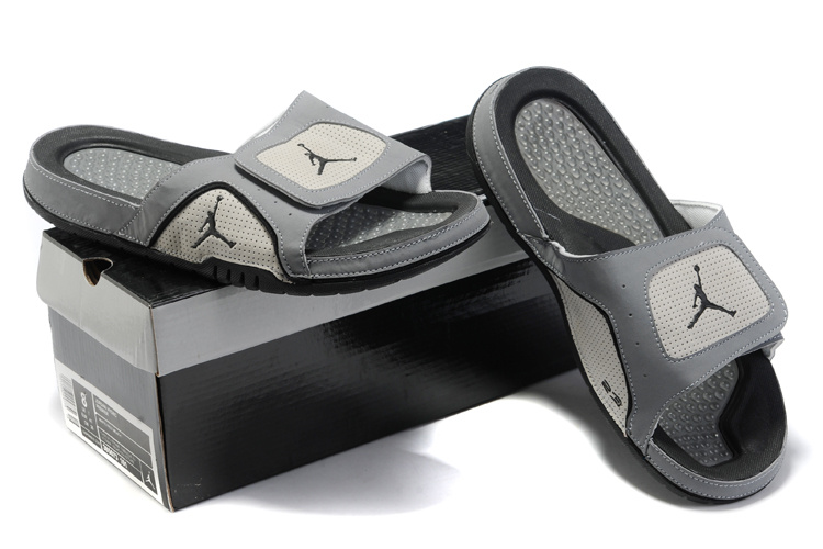 Grey Black Jordan 5 Massage Sandal