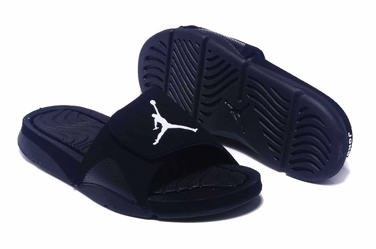 59d38f086ca058 Jordan Hydro IV Retro All Black Sandal