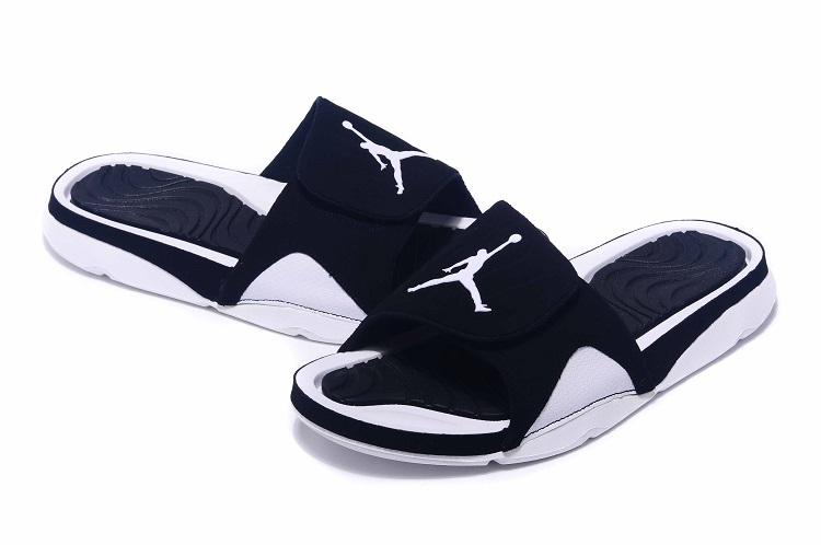 f0812f3dc7065 Jordan Hydro IV Retro Oreo Black White Sandal