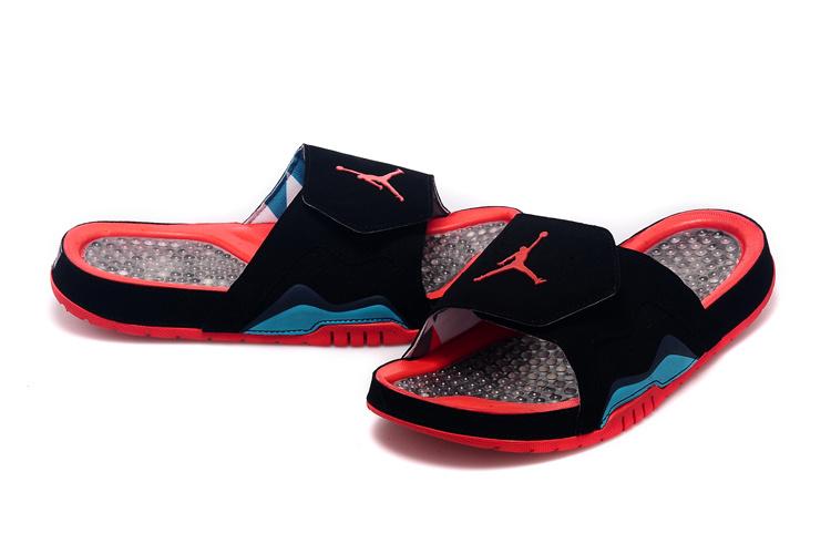 008a77b3bd9873 Jordan Hydro VII Retro Black Red Green Men Sandal  WOMEN1736 ...