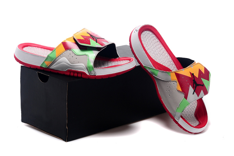 d5b89882e08f Jordan Hydro VII Retro Hare White Red Orange Green Women Sandal