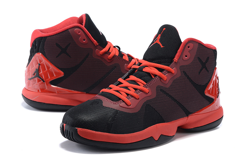Jordan Super Fly 4 Black Red Basketball Shoes