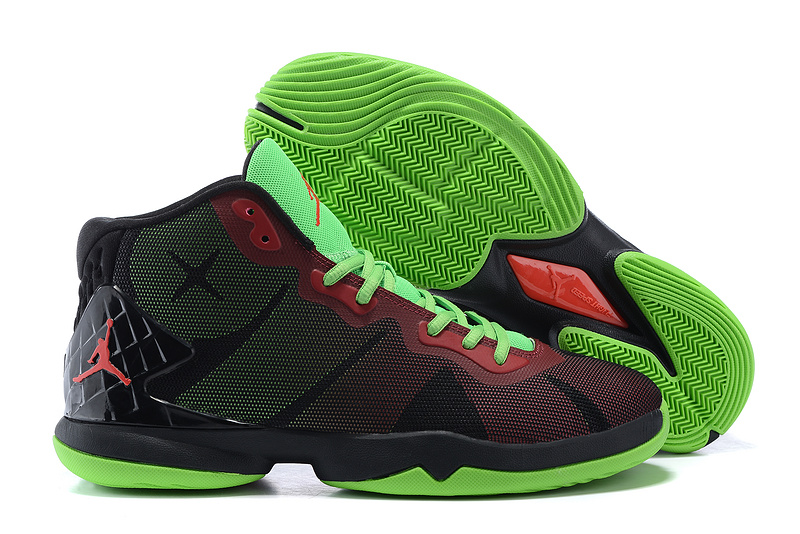 Jordan Super Fly 4 Black Red Green Basketball Shoes