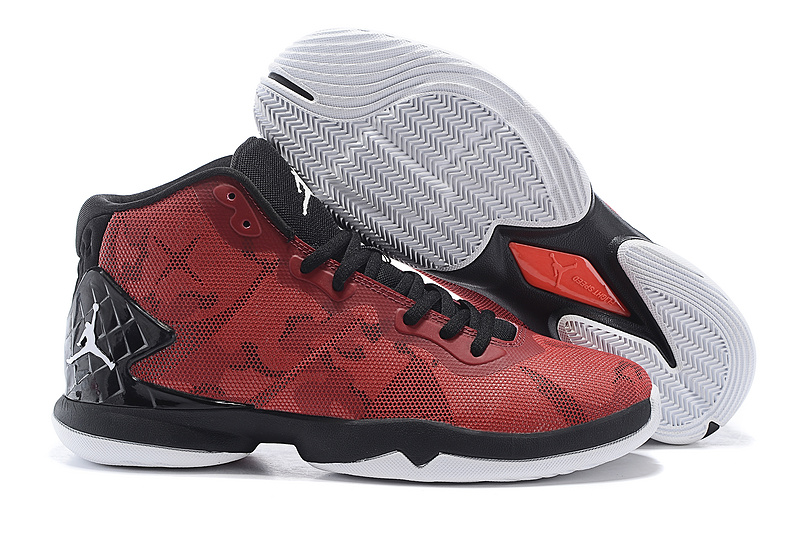 Jordan Super Fly 4 Red Black Basketball Shoes