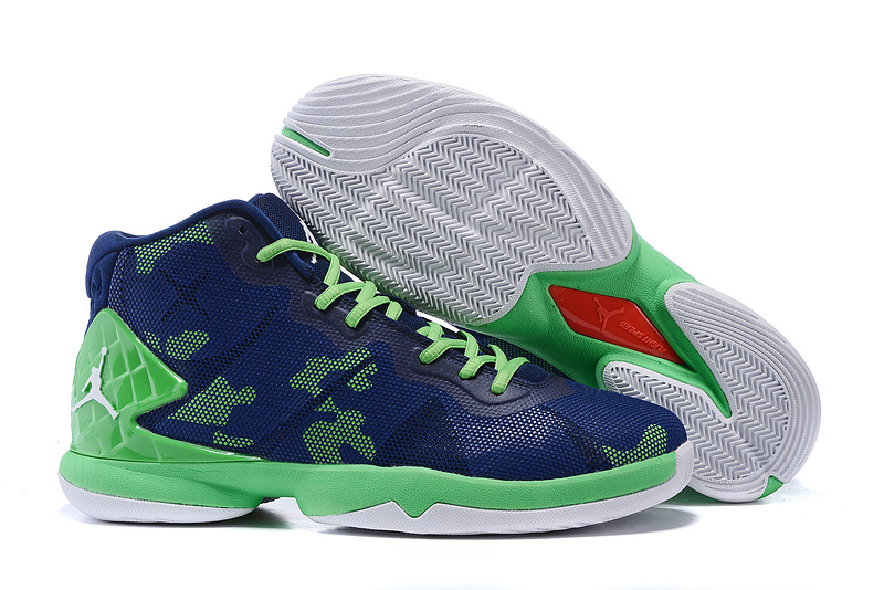 Jordan Super Fly Blue Green Shoes