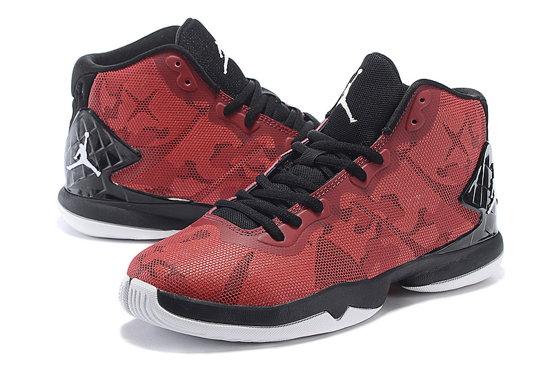 Jordan Super Fly Red Black Shoes