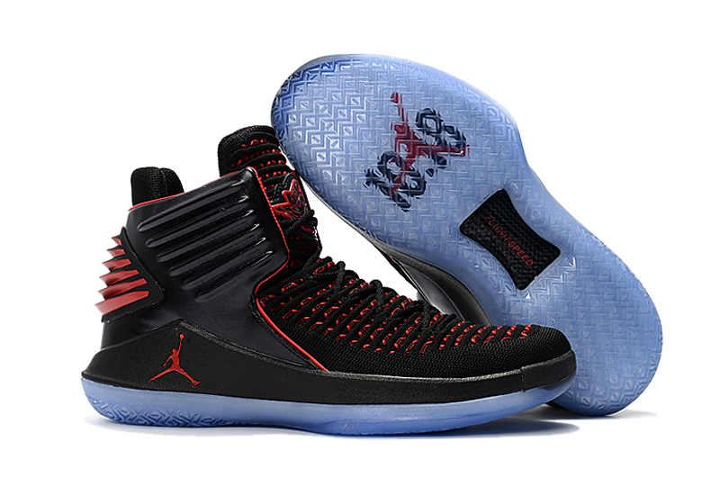 Air Jordan 32 North Carolina Black Red Shoes