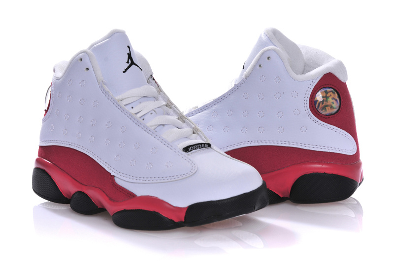 pretty nice 1d1a9 5722f Kids Air Jordan 13 Retro White Red Black Shoes