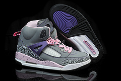 Kids Air Jordan Spizike Grey Pink Purple Black Shoes
