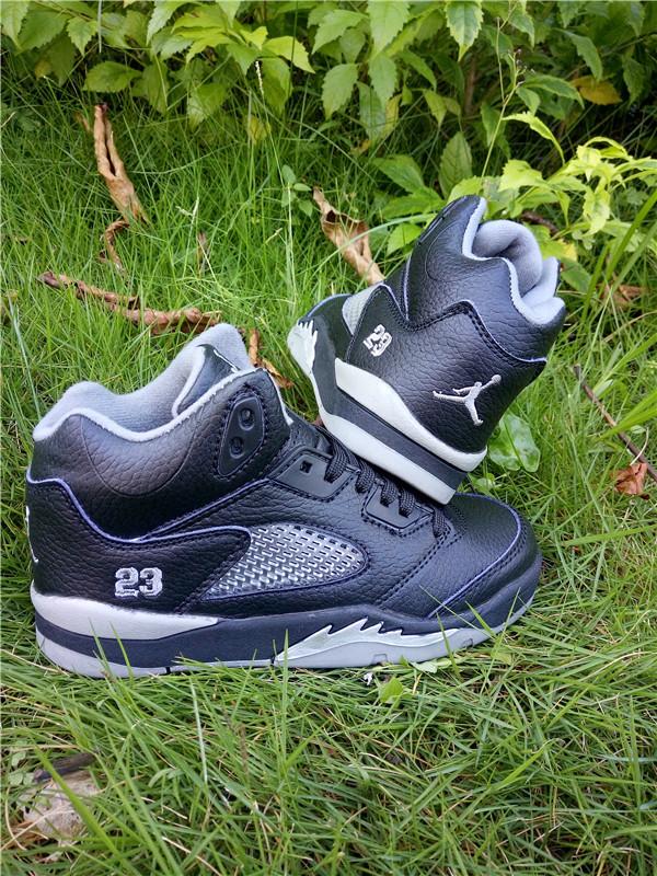 cbf06cb5b8cf Kids Jordan 5 Retro Black White Shoes