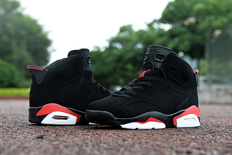 Kids Jordan 6 Retro Black Red Shoes