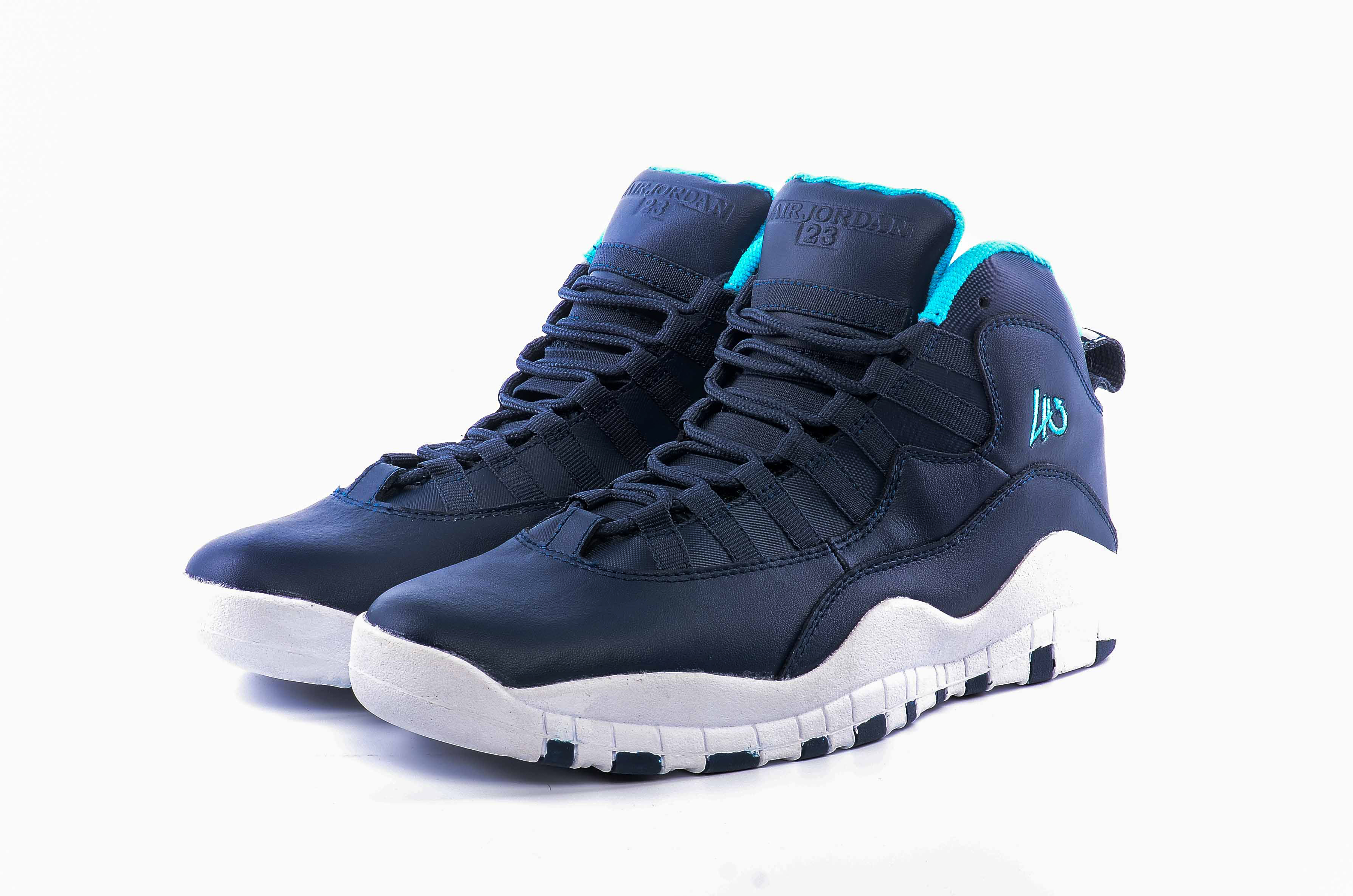 Latest Men Air Jordan 10 Deep Blue White Shoes