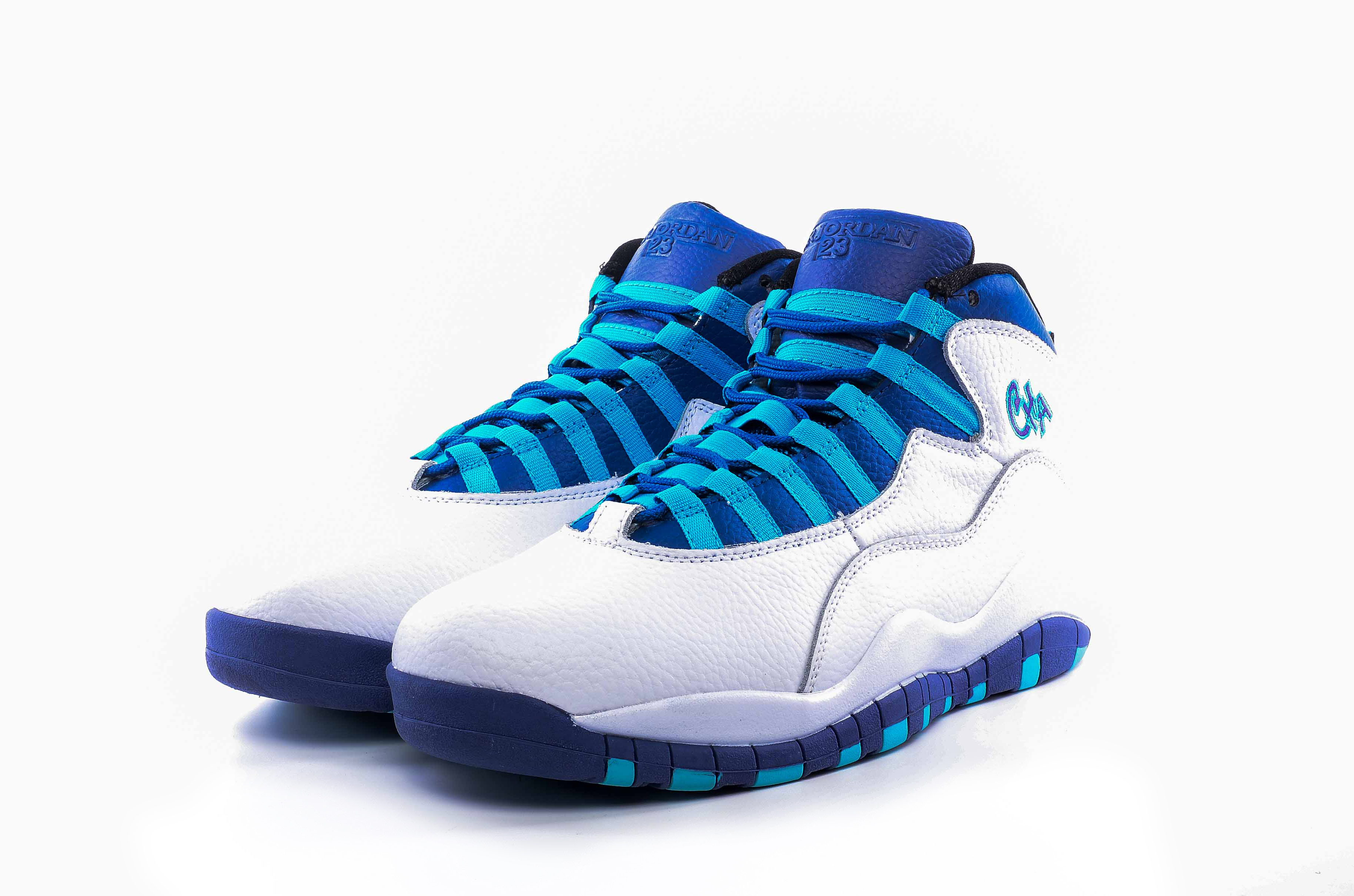 Latest Men Air Jordan 10 White Blue Shoes