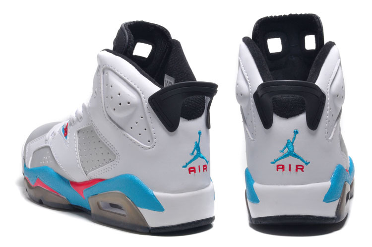 finest selection 014e9 c9733 ... get latest womens air jordan 6 retro white silver blue red shoes 8ab6e  7ae40 ...