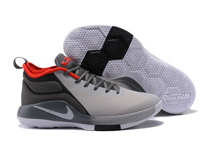 New Nike LeBron Wintness 2 Gray Black Red Basketball Shoes