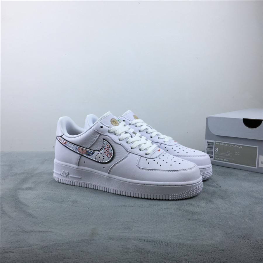 Nike Air Force 1 CNY White Colorful Shoes For Women