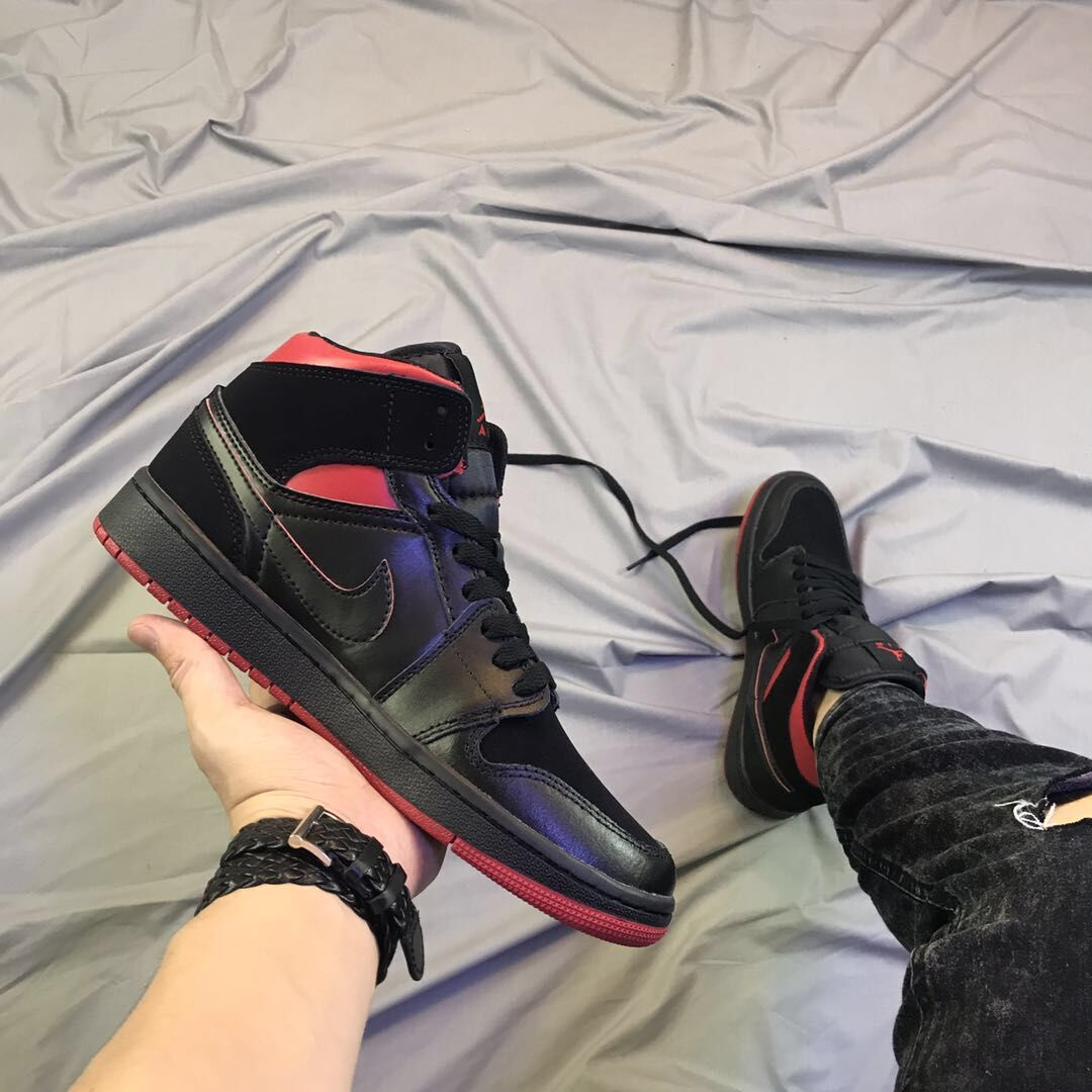 Women Air Jordan 1 Final Shot Black Shoes
