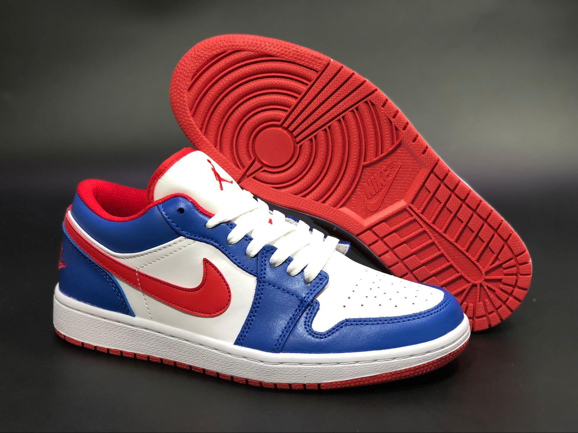 Air Jordan 1 Low America Captain White Blue Red Shoes