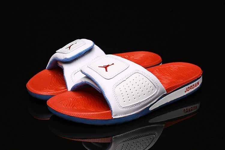Women Air Jordan Hydro III Retro White Reddish Orange