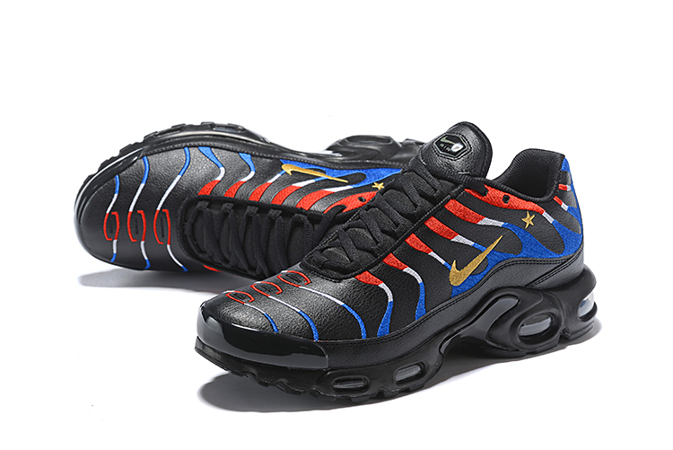 NIKE AIR MAX TN PLUS Black Blue Red Running Shoes
