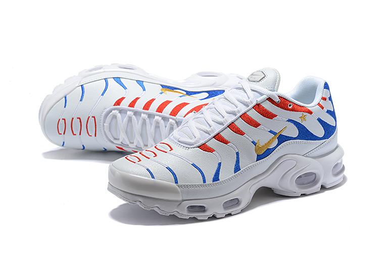 NIKE AIR MAX TN PLUS White Blue Red Running Shoes