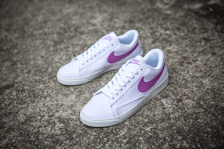 Women Nike Air Blazer Low White Purple Shoes