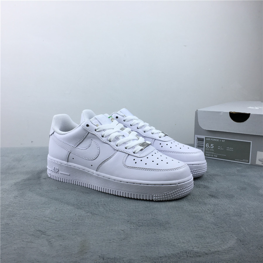 Nike Air Force 1 '07 All White Shoes For Women
