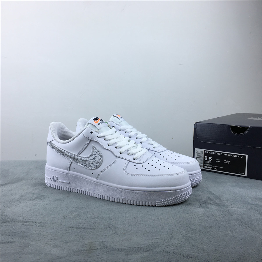 Nike Air Force 1 AF1 Just Do It White Shoes For Women