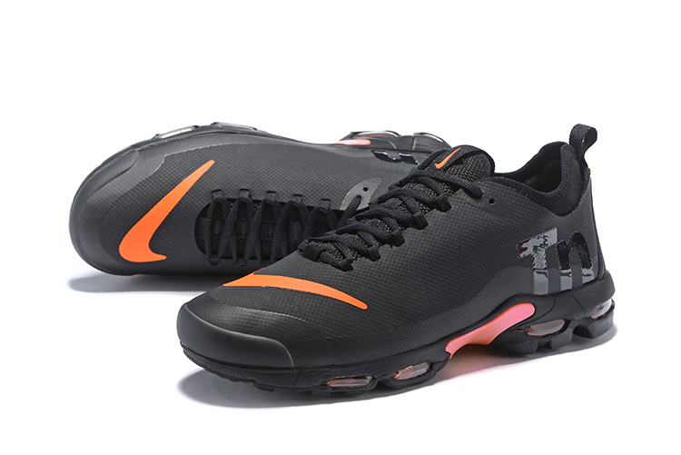 new concept 5a877 2fdc3 Women Nike Air Max Plus TE 2 Black Orange Shoes