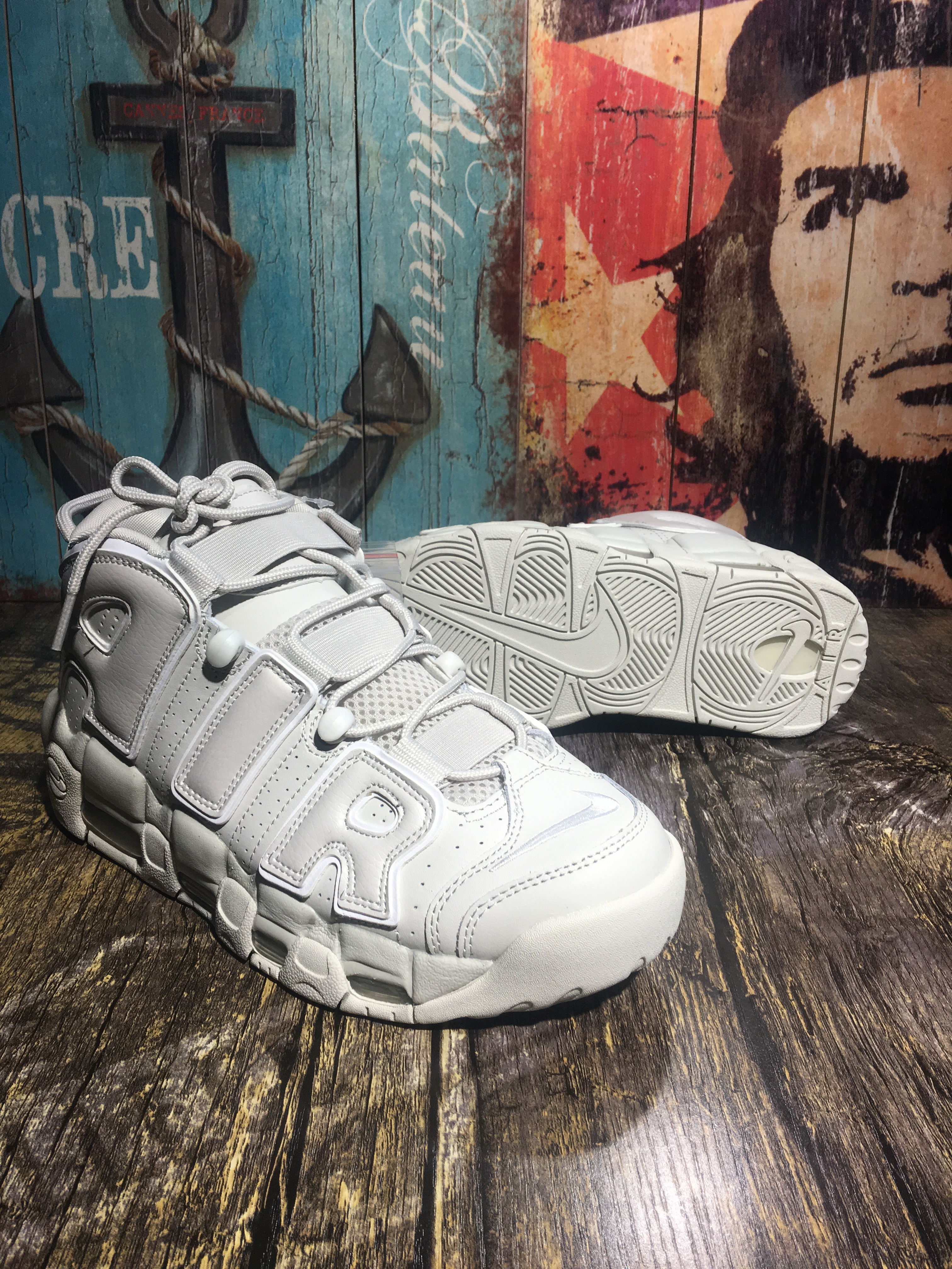 Women Nike Air Uptempo All White Shoes