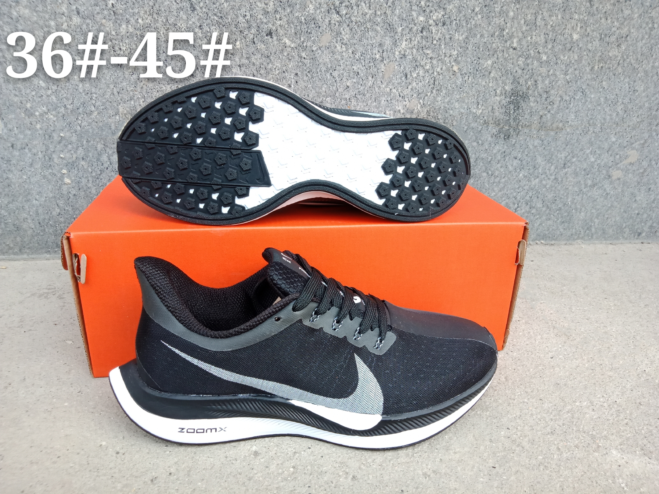 Nike Air Zoom Pegasus 35X Black Grey Shoes
