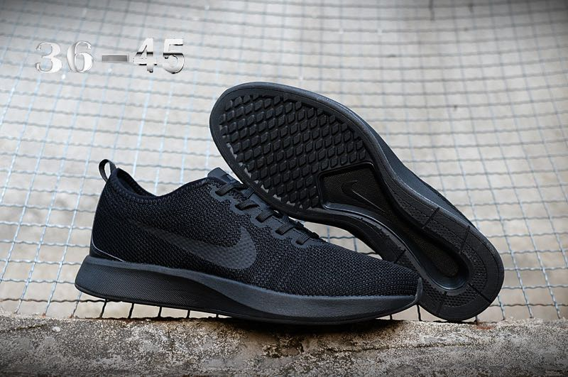 Nike Dualtone Racer All Black Running Shoes