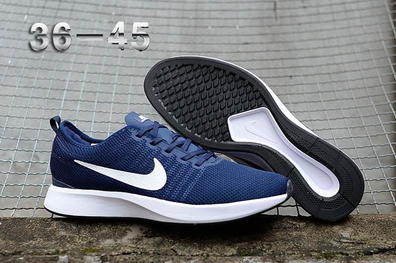 Women Nike Dualtone Racer Blue White Running Shoes