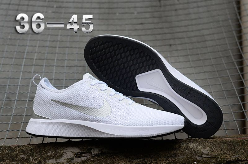 Nike Dualtone Racer White Silver Running Shoes