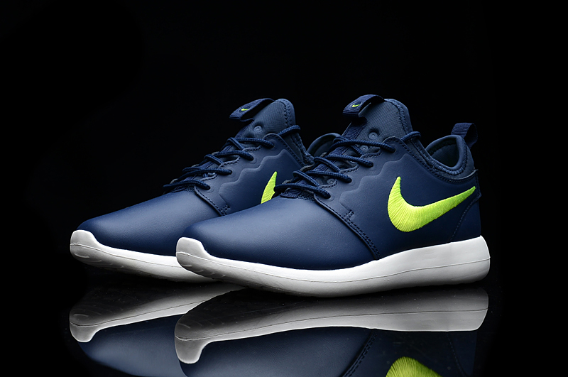 Nike Roshe 2 Leather PRM Blue Green Shoes