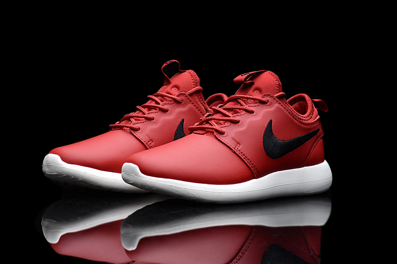 Nike Roshe 2 Leather PRM Red Black White Shoes