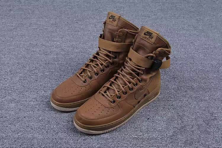 Special Forces Air Force 1 BootsFaded Olive Gum Light Brown Shoes