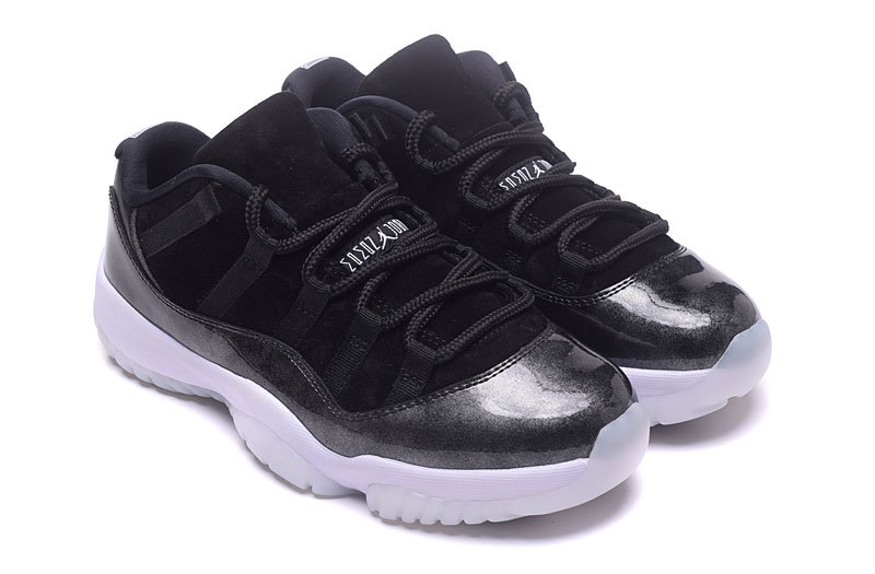 Women Air Jordan 11 Low 72 10 Black White Shoes