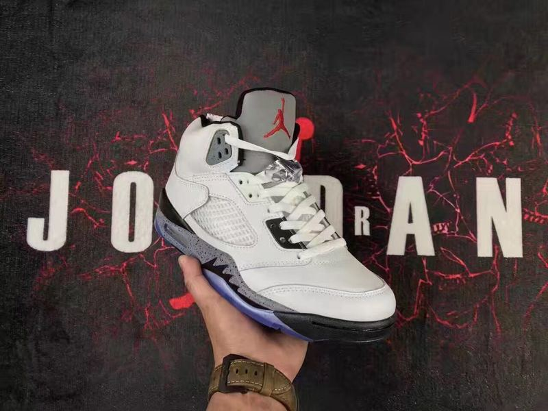 Women Air Jordan 5 Retro White Cement Shoes