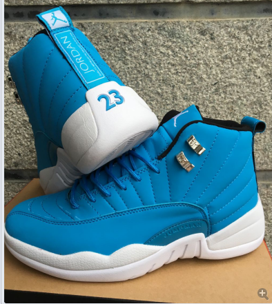 Jordan 12 Blue White Shoes