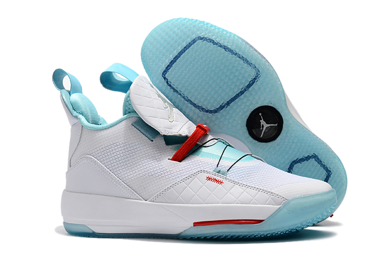 Man Air Jordan 33 White Gint Green Red Shoes