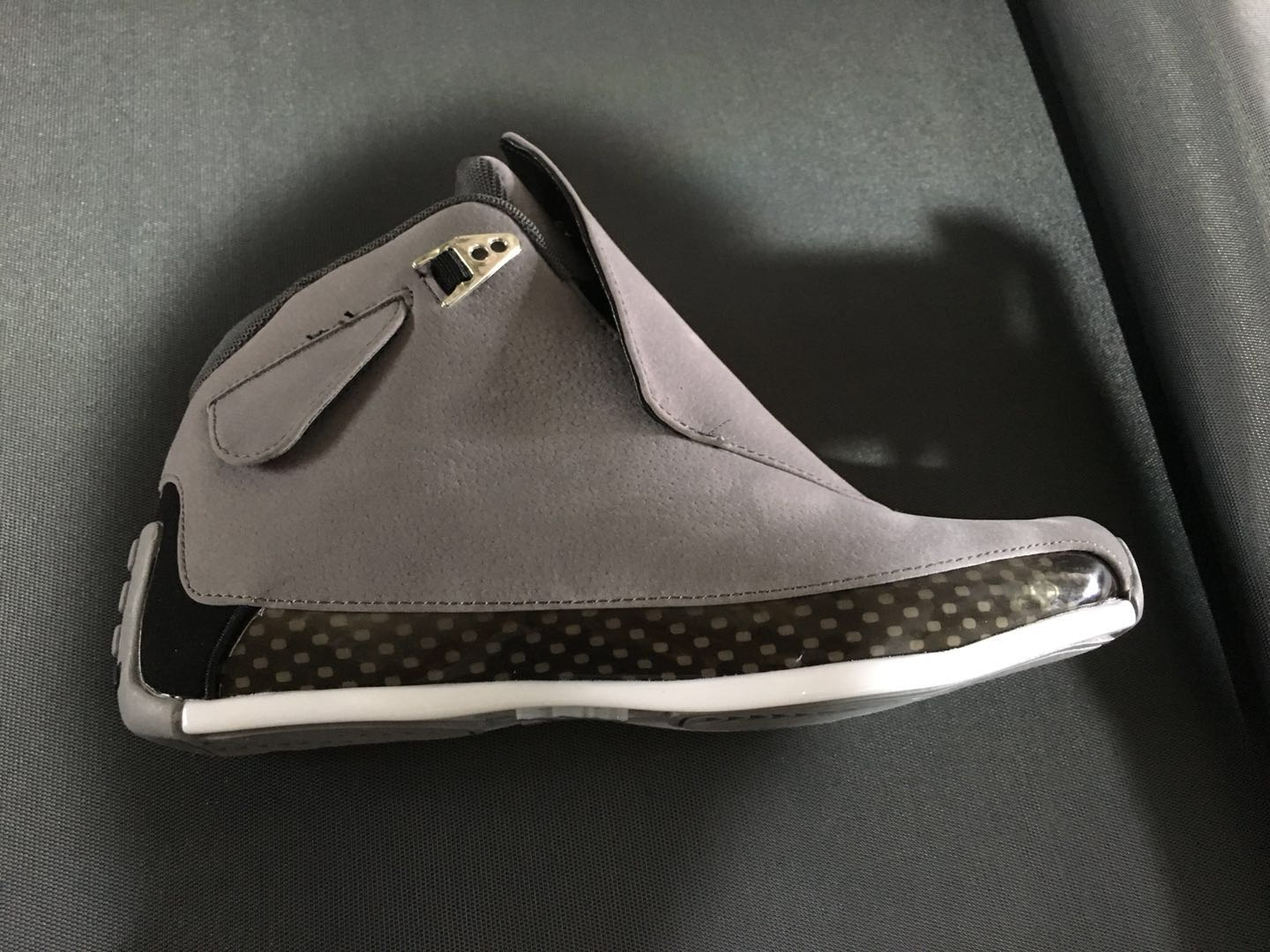 Men Air Jordan 18 Retro Grey Black