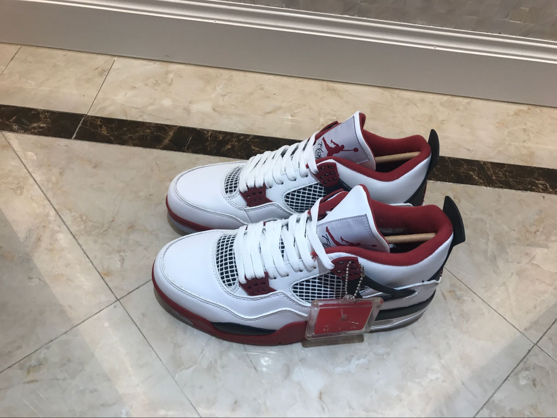 reputable site 6e100 dc1d5 Men Air Jordan 4 Retro White Wine Red Black [18women72202] - $93.00 ...