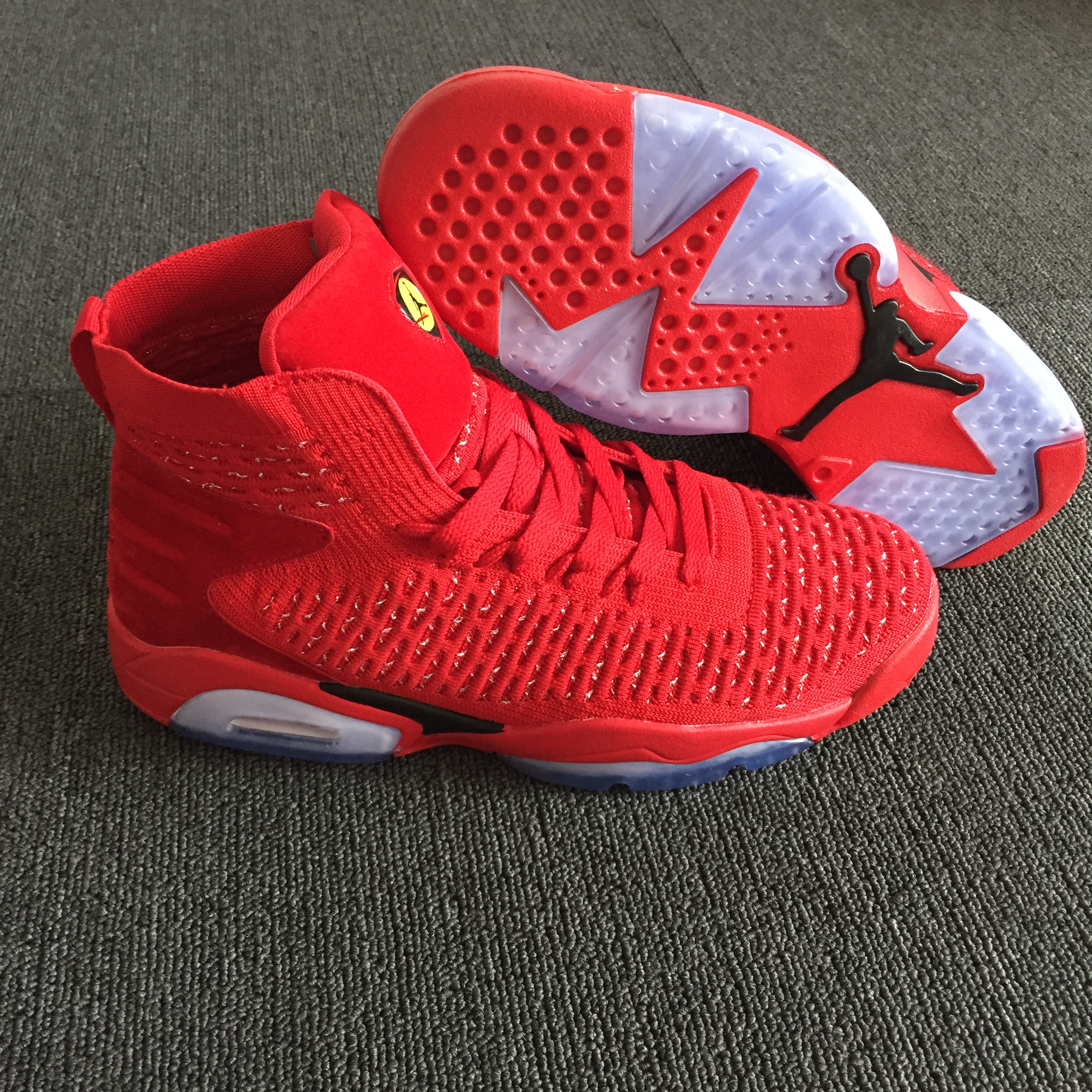 Men Air Jordan 6 Retro Knit China Red Shoes