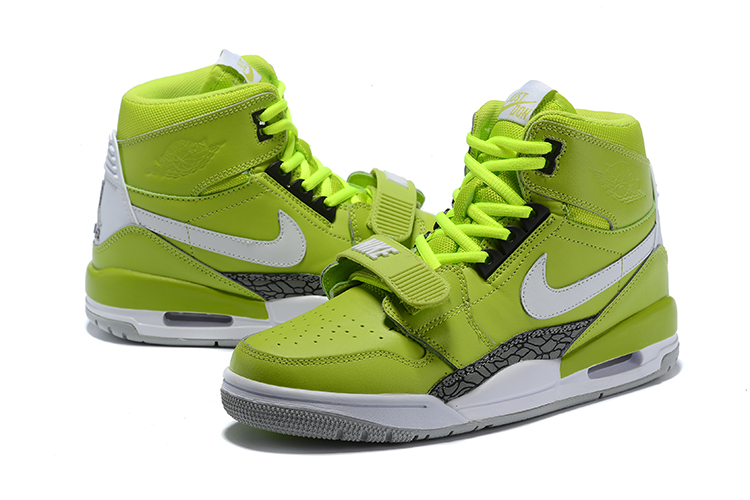 Men Air Jordan Legacy 312 Green White Cement Shoes
