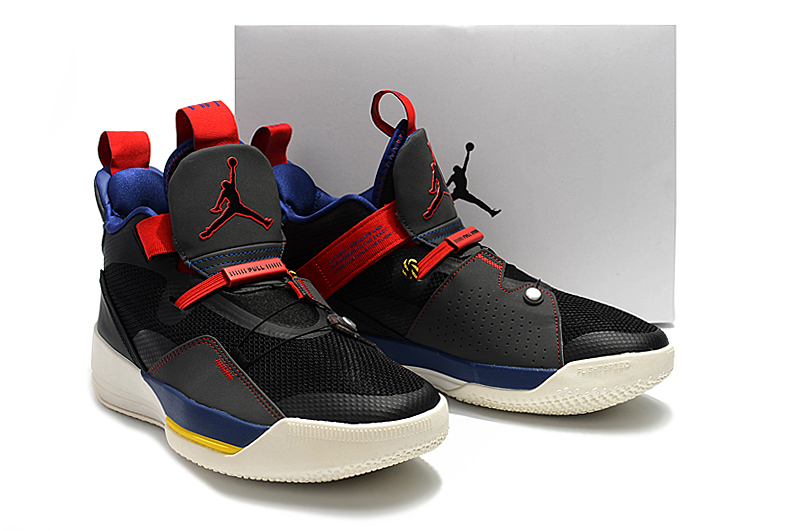 Men Air Jordan XXXIII Black Red Blue Shoes